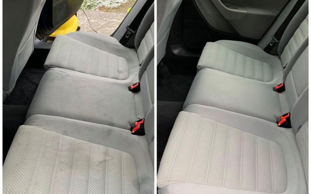 VW személyautó kárpittisztítása